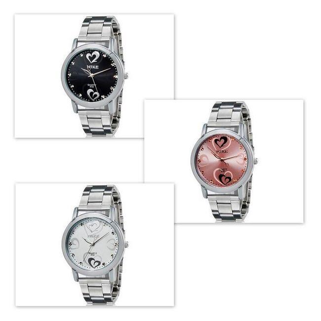 Elegantní dámské hodinky se srdíčkovým motivem - 3 barvy 1