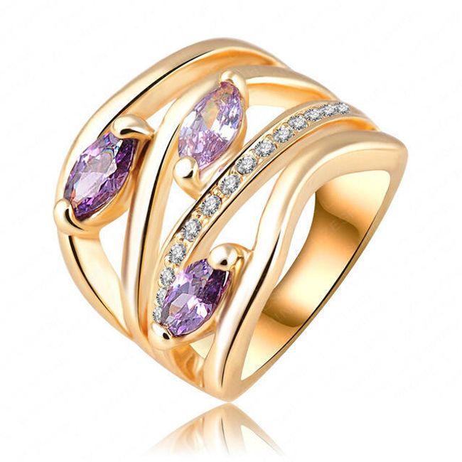 Ženski prsten sa kamenčićima - 6 veličina 1