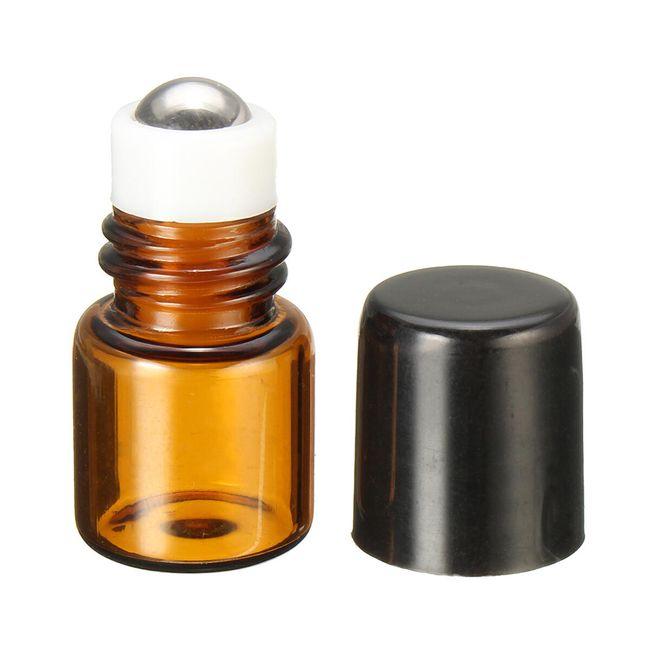 Mini lahvička s kovovou kuličkou - 1 ml 1