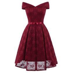 Elegáns ruha  50-es évek stílusában - 5 színben