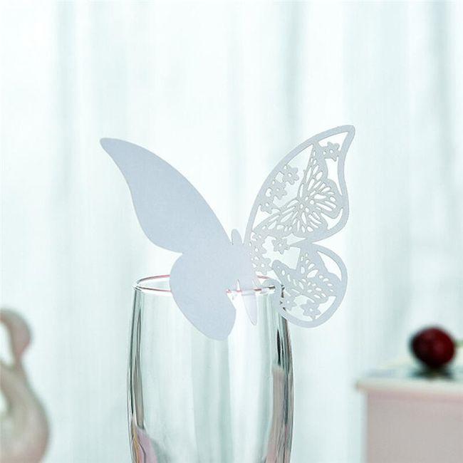 Svatební dekorace na skleničky 1