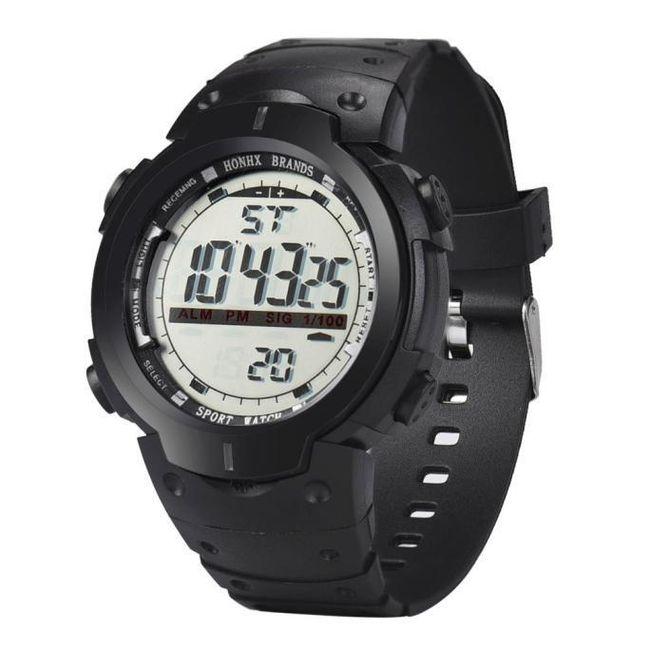 Pánské silikonové náramkové hodinky s velkým ciferníkem 1
