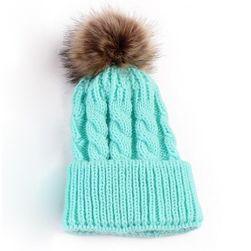 Ženski kapa sa pomponom za zimu - 6 boja