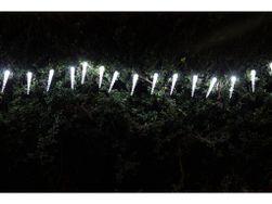 Solární vánoční osvětlení - Světelný řetěz (rampouchy) s 20 LED diodami, bílá