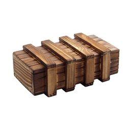 Drewniana łamigłówka - tajemnicze pudełko