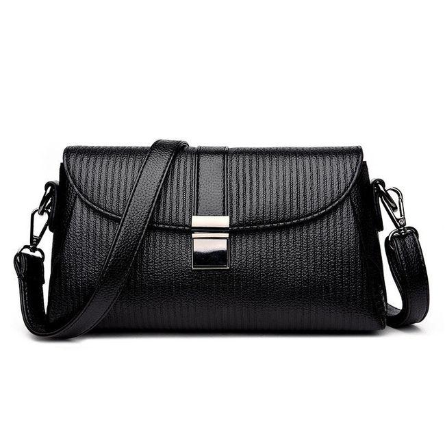 Elegantní kabelka s přezkou přes rameno 1