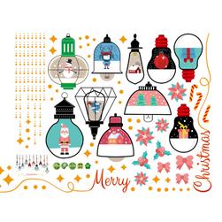 Karácsonyi matrica Lisette