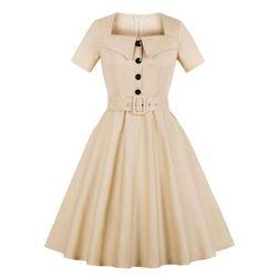 Kremowa sukienka vintage
