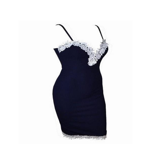 Dámské šaty v tmavě modré barvě - velikost č. 5 1