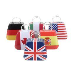 Mini érme tároló doboz - nemzeti zászlók
