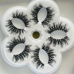 1 nowy 5 par ananasowych rzęs 10-25mm rzęsy puszyste rzęsy 3d makijaż dramatyczny długi DL_654464693881