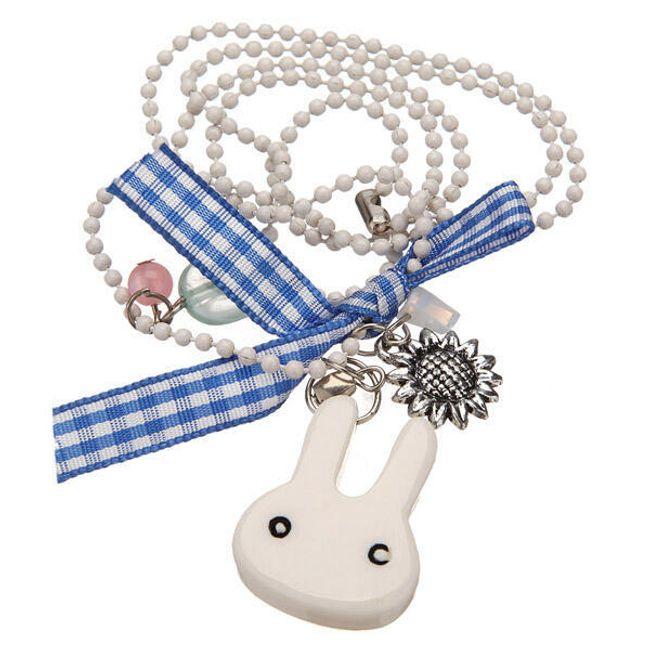 Originální korálkový náhrdelník s přívěskem ve tvaru králíčka 1