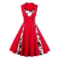 Retro šaty s knoflíčky - 6 barev