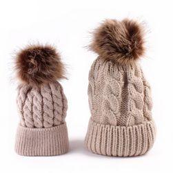 Pletená čepice pro maminku a dceru