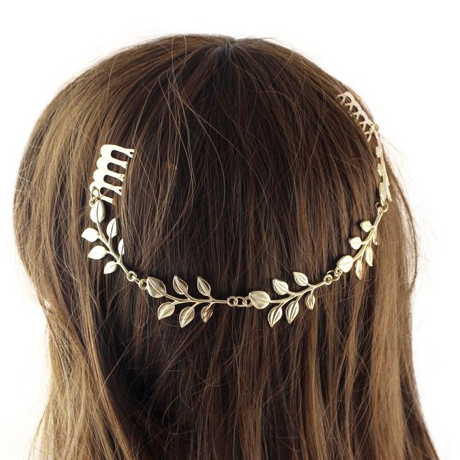Hřebínek do vlasů - listová čelenka 1