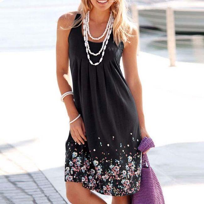 Dámské šaty na léto - Černá-velikost č. 2 1