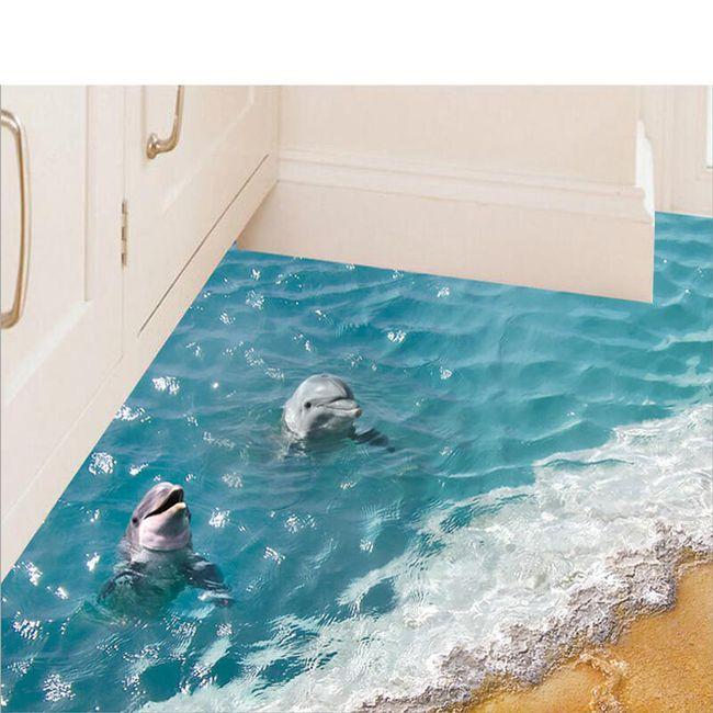 3D nalepnica sa delfinima 1