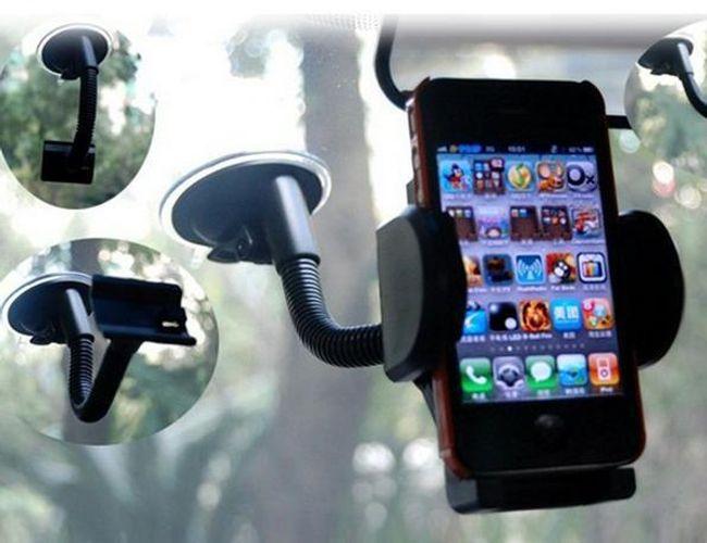 Praktický držák na mobil či navigaci - auto doplněk 1