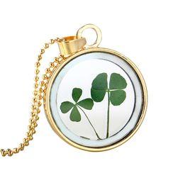 Dámský náhrdelník s motivy čtyřlístků - 4 varianty