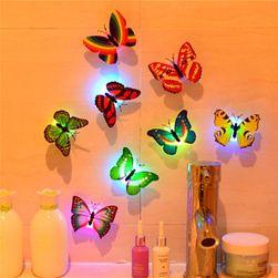 Svijetleća LED naljepnia za zid - leptir