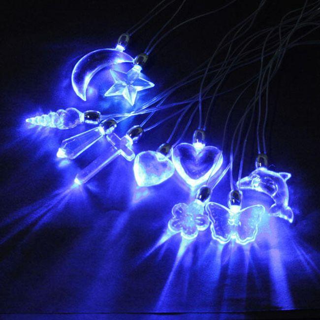 Świecący LED wisiorek na szyję 1