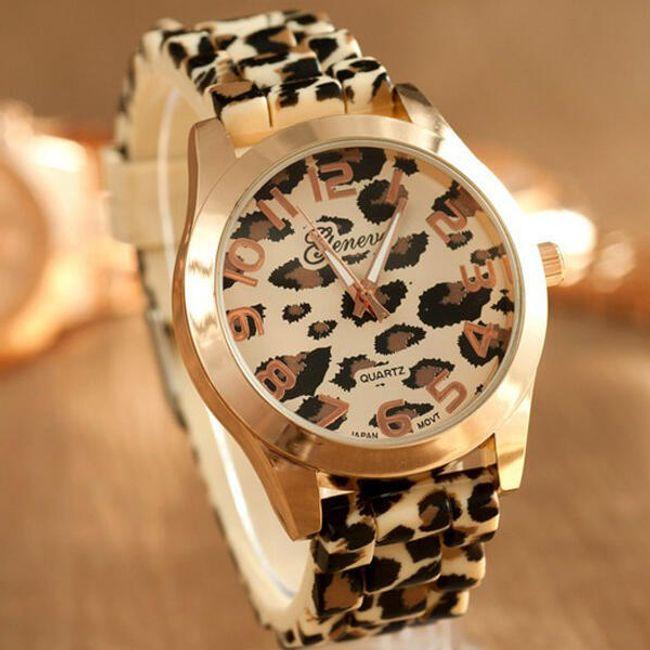 Dámské hodinky GENEVA s leopardím vzorem 1
