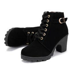 Dámské kotníkové boty na podpatku - 4 barvy
