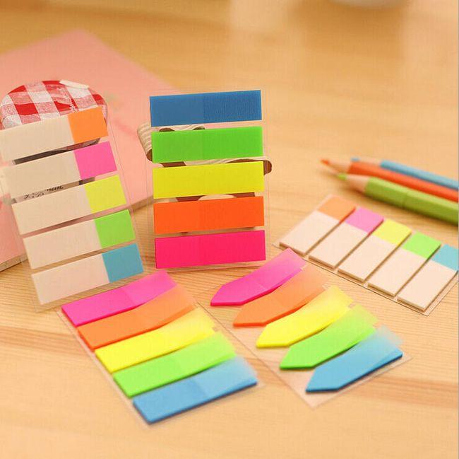 Papírky lepivé - barevné 1