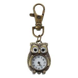 Kapesní hodinky s karabinou ve tvaru sovičky