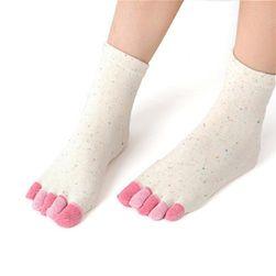 Prstové ponožky - viac farieb