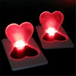 Serce - latarka kieszonkowa led w karcie