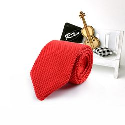 Férfi nyakkendő kötött mintával - színek keveréke