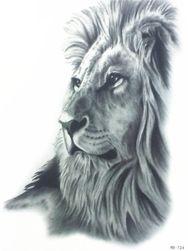 Переводная татуировка- чёрно-белый Лев
