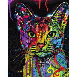 DIY картина, живопись по номерам- Кошка