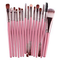 Zestaw szczotek do makijażu - 17 wariantów