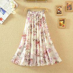 Dugačka boemska suknja sa motivima cveća - 26 varijanti