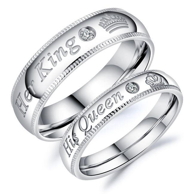 Prsten za parove - HIS QUEEN, HER KING 1