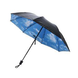 Складной зонт с облаками