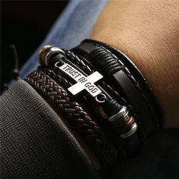 Набор мужских браслетов Trust In God