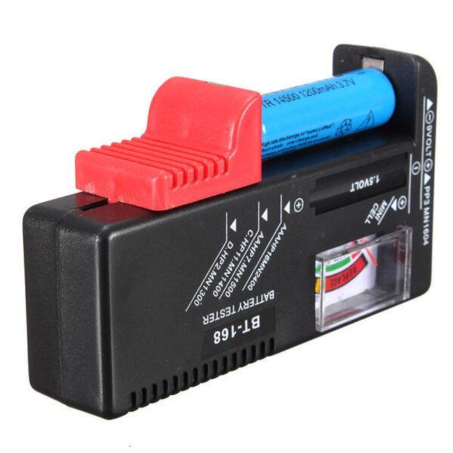 Univerzalen tester baterije v črni barvi 1