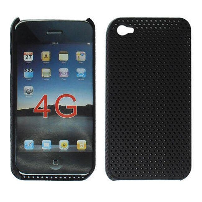 Plastový ochranný kryt na iPhone 4 a 4S - černý motiv 1