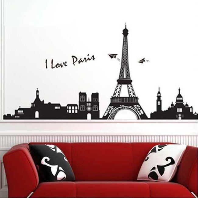 Autocolant de perete cu model Paris 1