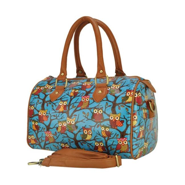 Dámská kabelka s motivem sovy - modrá nebo růžová 1