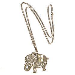 Naszyjnik z wisiorkiem w kształcie słonia