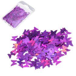 Dekoratív csillogás pillangók formájában - több szín