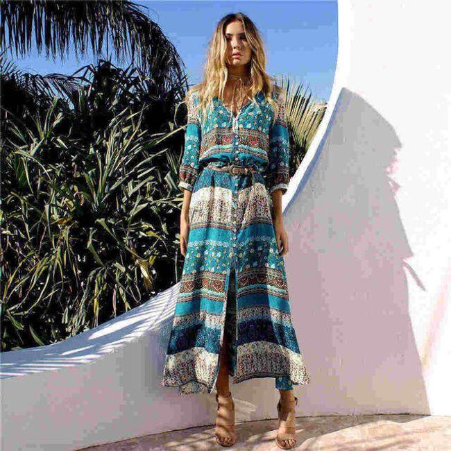 Letní šaty s bohémskými motivy - D-velikost č. 7 1