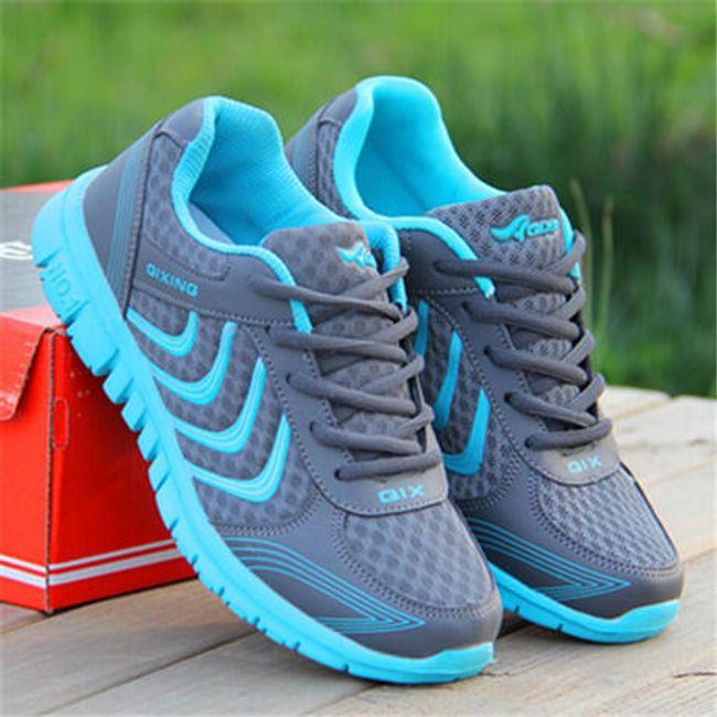 Dámské sportovní botasky - Tmavě šedá s modrou - 25,7 cm (vel. 41) 1