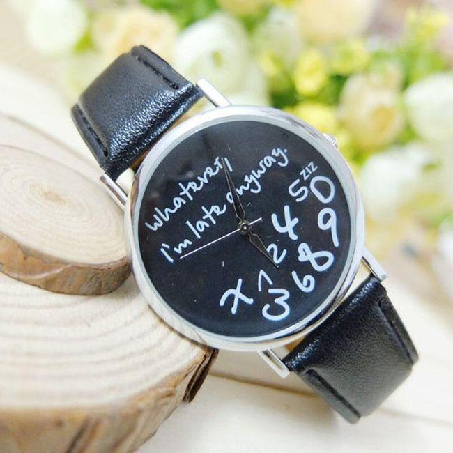Dámské hodinky s vtipným ciferníkem - černá 1