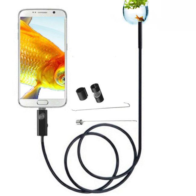 Wysokiej jakości endoskop dla Androida z oświetleniem - 2 m 1