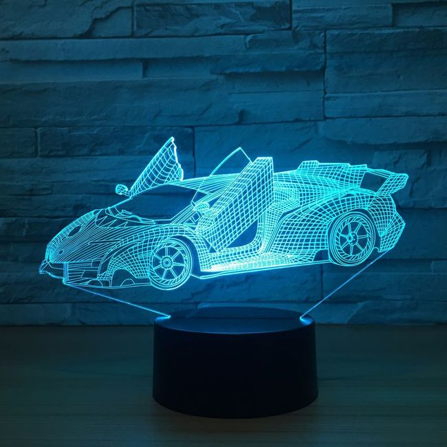 3D LED lampa Carry 1